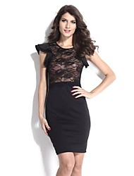 Women's   Cut Out Lace Evening Dress