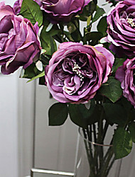 """30 """"l Steigung Rampe stieg Seidentuch Blumen lila"""