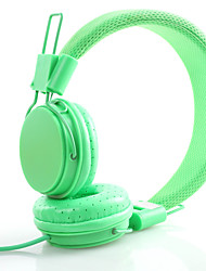 Heshishi Candy Colors Foldable Head-mounted Wired Headset