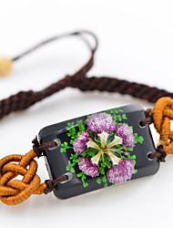 FLOWER STONE®REAL PHARBITIS NIL BRACELET BLACK