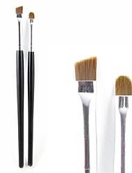 2 - Eyeliner Brush - Pinceau en Fibres Synthétiques - Pinceau Moyen/Petit Pinceau