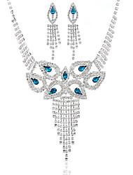 Conjunto de jóias Mulheres Aniversário / Casamento / Noivado / Presente / Ocasião Especial Conjuntos de Joalharia Liga Pedras Variadas