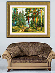 The forest hobbies and crafts Europe Diamond Cross Stitch Needlework Wall Home Decor 41*52cm