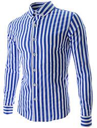 Лейкерс мужские досуг полосы рубашка