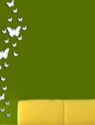 miroir stickers muraux stickers muraux, 24pcs bricolage papillon miroir acrylique murales autocollants