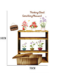 Comfortable Country Flowers PVC Wall Stickers