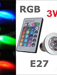 1pcs RGB LED Lamp AC220-240V 3W E27 Spot LED 16 Color Bulb Changeable Multiple Colour with Remote Control LED Lighting