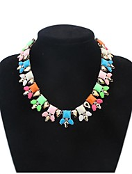 Women Cute Squares Beads Cluster Florals Clearance Bib Statement Necklace