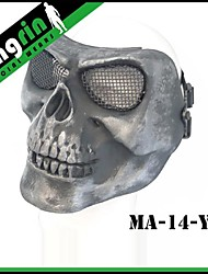 MA-14-02 Airsoft Tactical Military Skull Full Face Mask V2 (Steel mesh)
