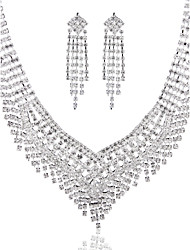 Luxurious Ladies'/Women's Alloy Wedding/Party Jewelry Set With Rhinestone