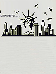 Environmental Removable The Statue of Liberty PVC Tags & Sticker