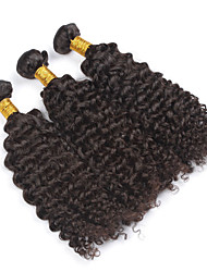 "3pcs/lot 8""-28""Brazilian Virgin Hair Kinky Curly Human Hair Weave Bundles Natural Color 300g/lot"