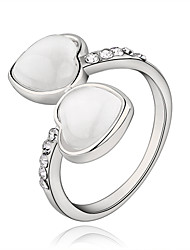 Alloy/Platinum Plated Ring Couple Rings/Statement Rings Wedding/Party/Daily/Casual 1pc