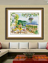 Живописный ручной Европа DIY вышивка крестом побережье Вилла серия алмазов картина 41 * 52см