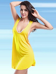 Women's Nylon/Polyester Sexy Solid Color Cover-Ups