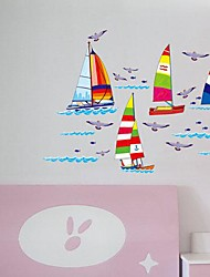 voilier environnement sticker mural en forme