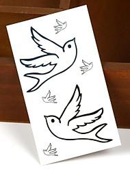 Pigeon Peace-Loving Tattoo Stickers Temporary Tattoos(1 Pc)