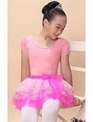 Ballet Dresses/Tutus Women's/Children's Performance Modal/Viscose Tiers 1 Piece Pink Kids Dance Costumes