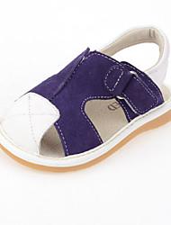 Baby Shoes Dress/Casual Calf Hair Sandals Green/Purple