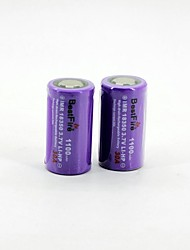 BestFire 18350 3.7V 1100mAh Rechargeable Battery (2Pack)