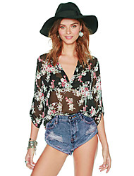 lina Damenmode Vintage-Bluse