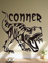 sticker mural PVC amovible de dinosaure de l'environnement