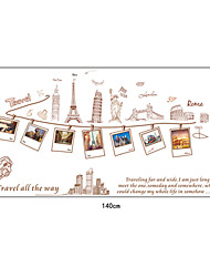 Fashionable Travel Around World Wall Stickers