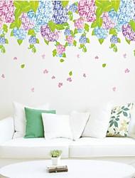 decalques de parede adesivos de parede, parede estilo hortênsia flor pvc adesivos