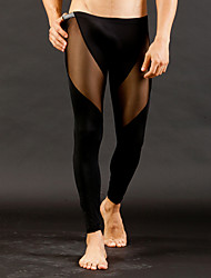 Sexy Push-Up Solid Long Johns,Mesh