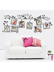 decalques de parede adesivos de parede, estilo dos desenhos animados de parede pvc pássaro preto etiquetas da foto