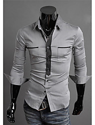 Gary Men's Contrast Color Shirt