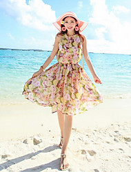 Women's Beach Micro Elastic Sleeveless Dress (Chiffon)