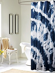 mediterrâneo impressão chuveiro de água-resistan cortina