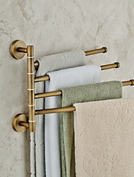 Towel Bar Antique Copper Wall Mounted 185*290mm(7.28*11.41inch) Brass Antique