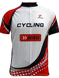 Jesocycling® Men's Short Sleeve Cycling Jersey Cycling Top with High Quality Sublimated Printing