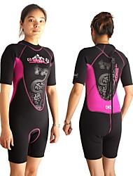Tenus/Combinaisons - Epais Patinage/Plongée/Surf/Triathlon - Femme - Résistant aux ultraviolets/Vestimentaire/Pare-vent/Garder au chaud/Zipper YKK