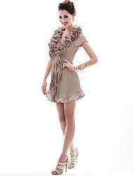 JoanneKitten® Women's Vintage/Sexy/Casual/Cute/Party/Work Chiffon Flowers Draped Above Knee Dress