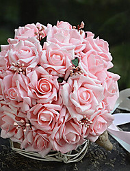 23 centímetros de diâmetro de casamento da noiva do casamento bouquet segurando flores, rosa simulação pe rosa