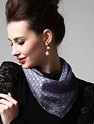 Zizhen seda ocasional bufanda cuadrada de las mujeres