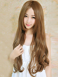 Fashion Fluffy Golden Brown Curly Long Hair Wig
