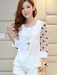 Women's Summer Fashion Chiffon Shirt (with Dot at Sleeve)