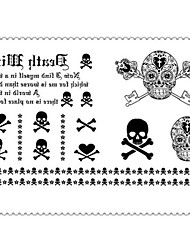 Human Skeleton Death Tattoo Stickers Temporary Tattoos(1 pc)