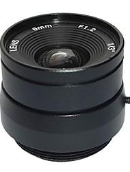 """f1.2 1/3 """"íris fixa ir lente 6 milímetros de circuito fechado de televisão CCTV lente para câmera de vídeo CCTV de vigilância de segurança"""