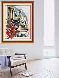 Ваза DIY алмаз рисунок Юго-Восточной Азии Алмазный крест стежка рукоделие стены домашнего декора 41 * 46см