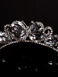 Butterfly Women/Flower Girl Alloy Tiaras With Rhinestone Wedding/Party Headpiece