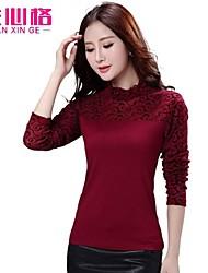 2014 Hitz female Korean long-sleeved shirt bottoming large size women t-shirt collar shirt upscale small shirt