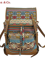 Women PU / Canvas Casual Backpack Multi-color
