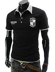 Vito Men's Casual Shirt Collar Short Sleeve T-Shirts