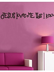 Wall Stickers Wall Decals, Jesus Loves Me PVC Wall Stickers