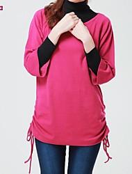 Women's Red/Beige T-shirt ½ Length Sleeve